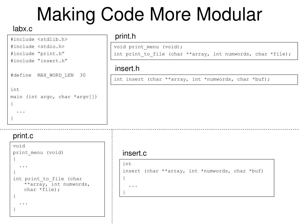 Making Code More Modular