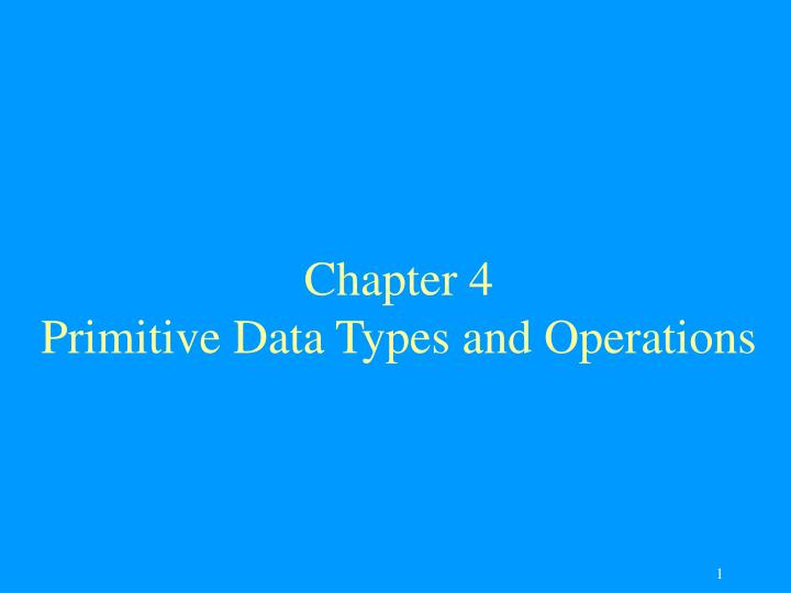 Chapter 4 primitive data types and operations l.jpg