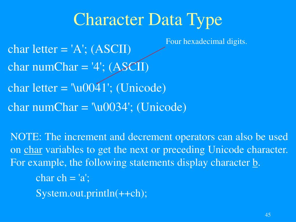 Character Data Type