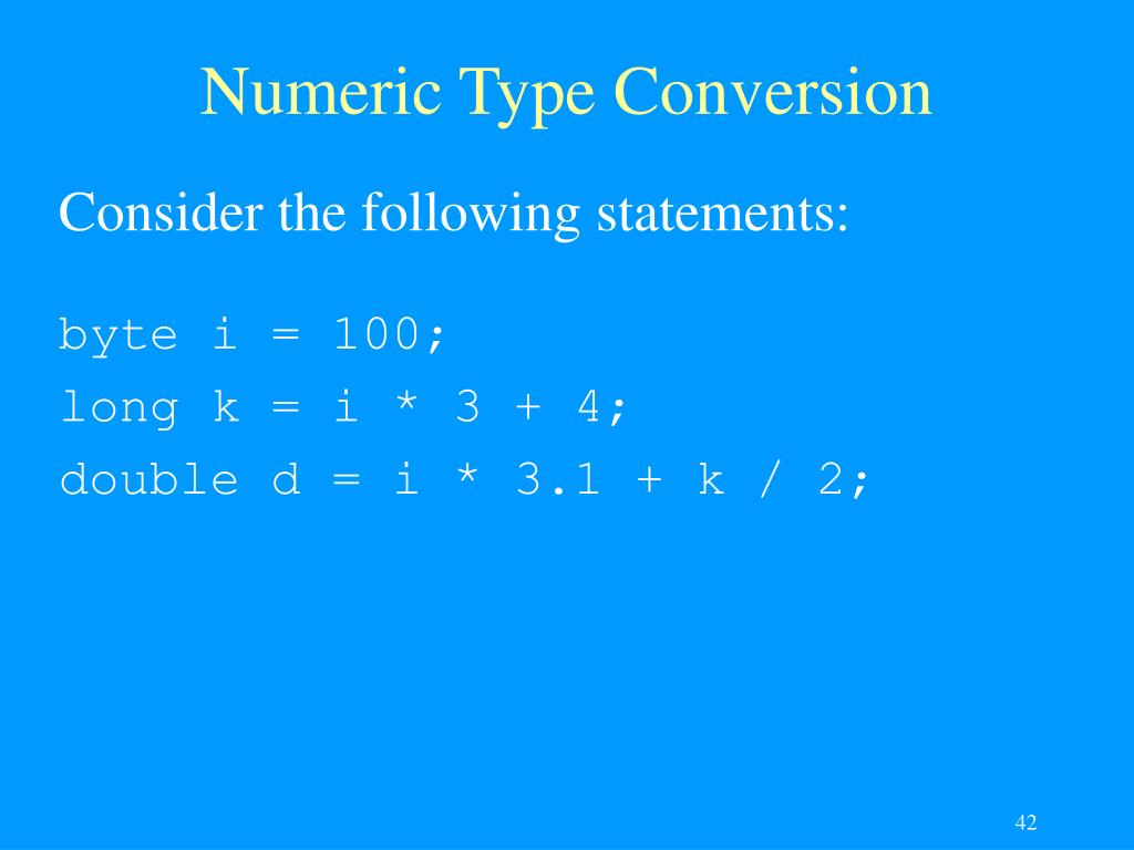 Numeric Type Conversion
