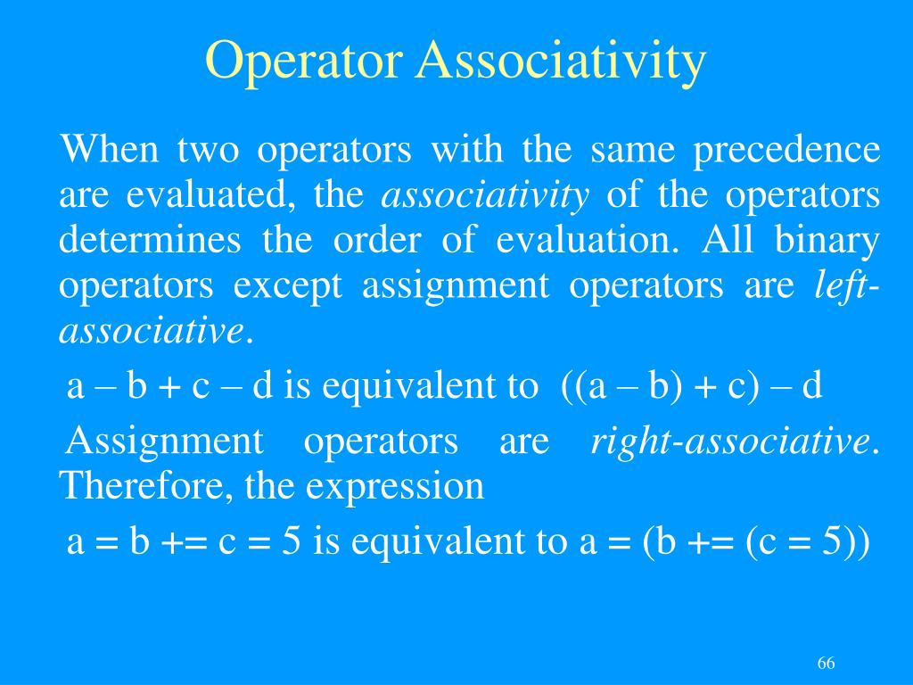 Operator Associativity