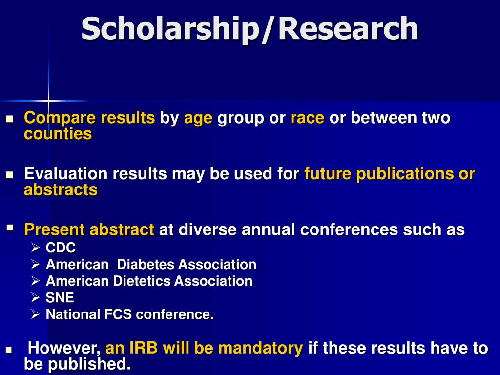 Scholarship/Research