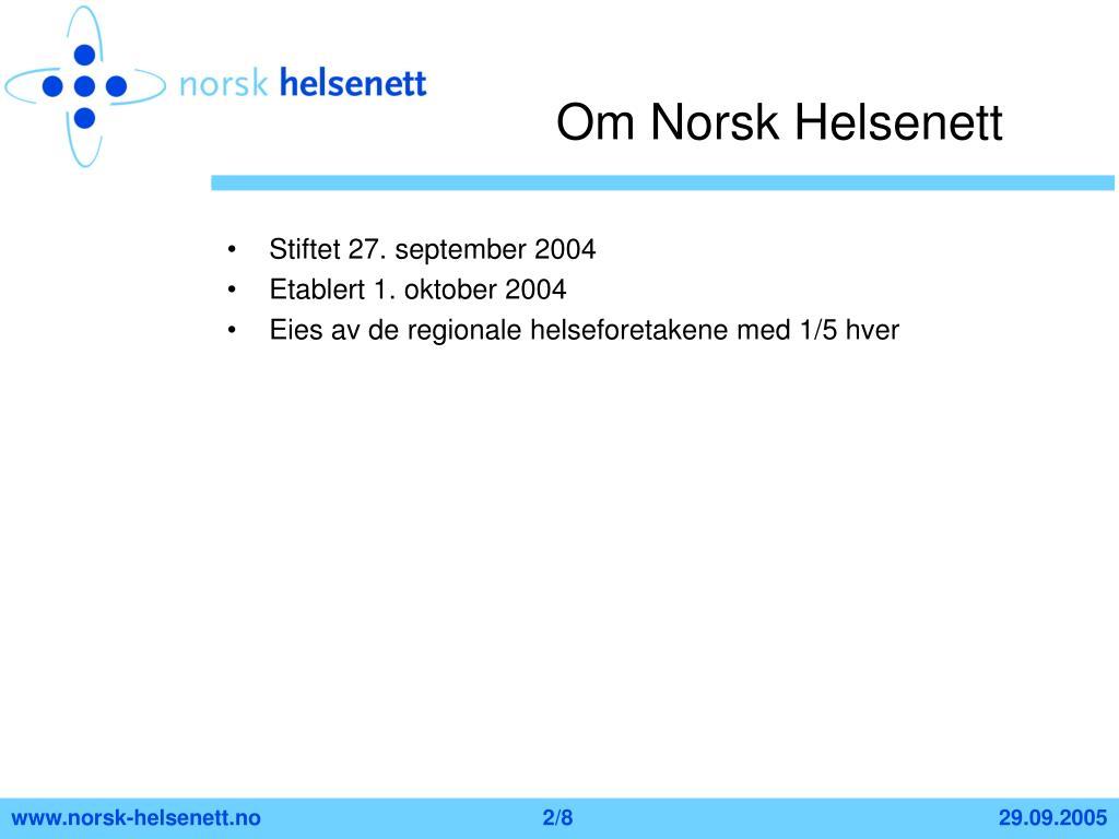 Om Norsk Helsenett