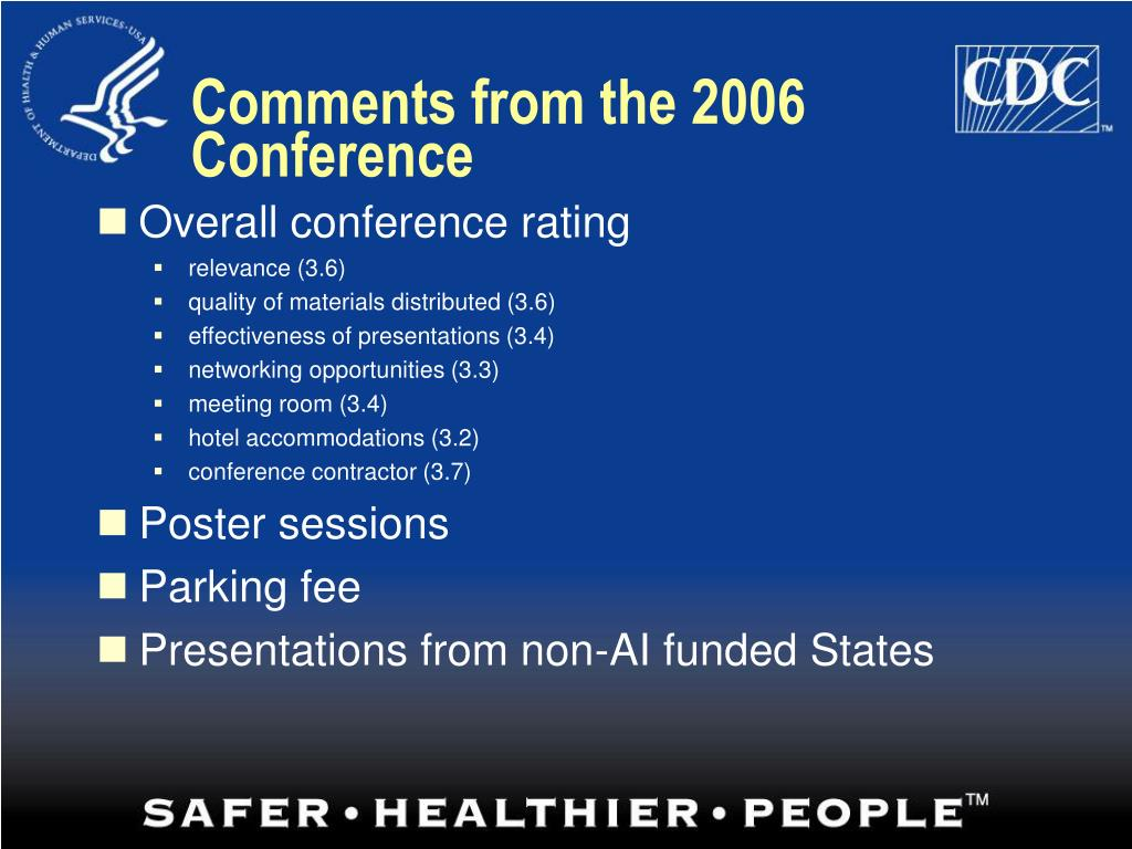 Comments from the 2006 Conference