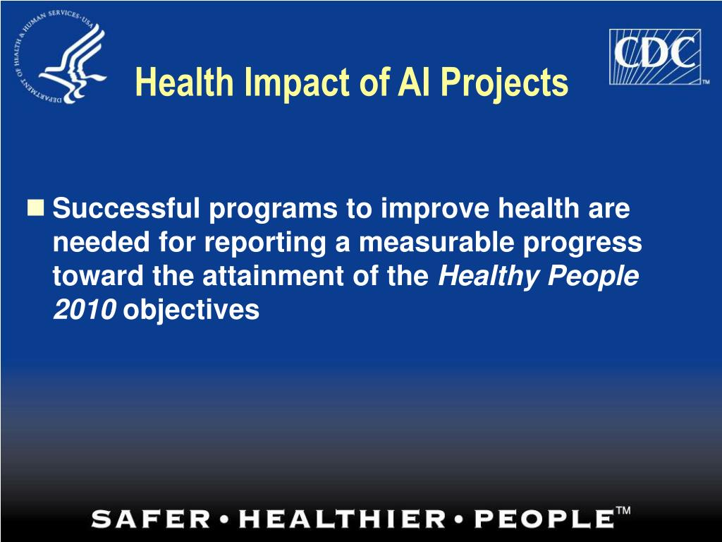 Health Impact of AI Projects