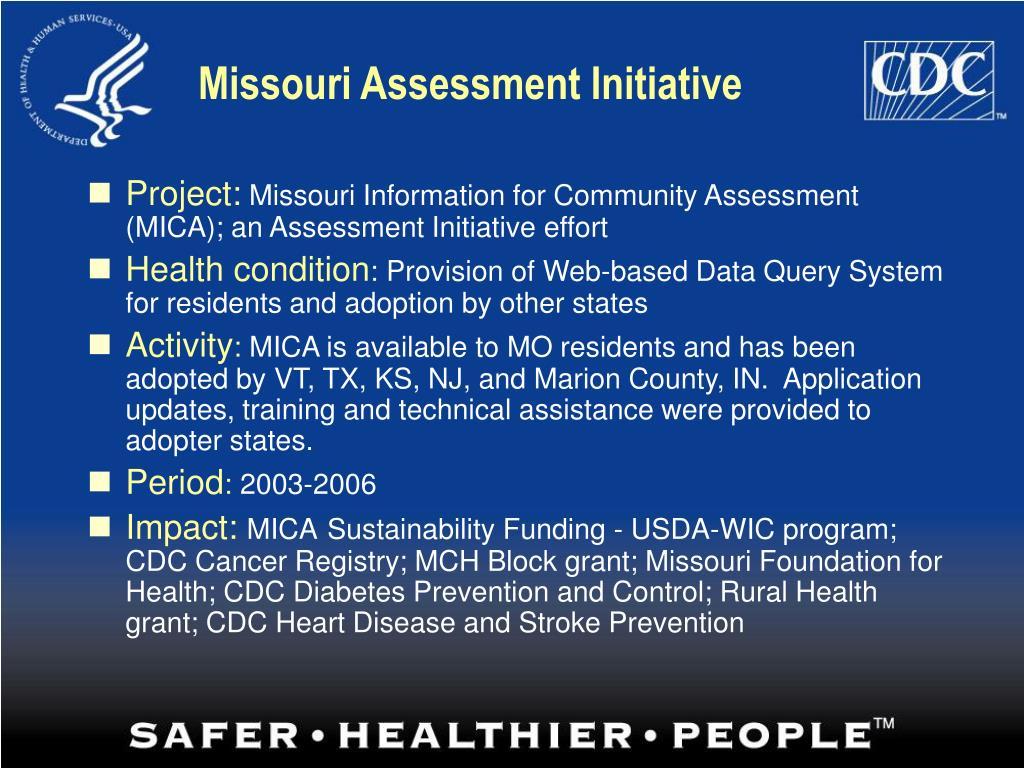 Missouri Assessment Initiative