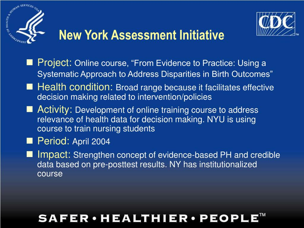 New York Assessment Initiative