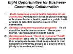 eight opportunities for business community collaboration