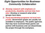 eight opportunities for business community collaboration21