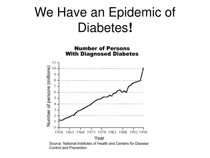 We have an epidemic of diabetes