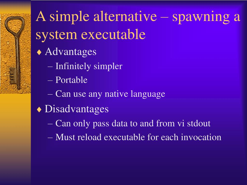 A simple alternative – spawning a system executable