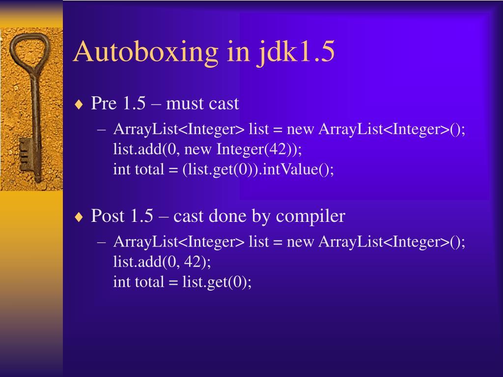 Autoboxing in jdk1.5