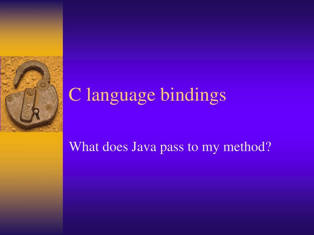C language bindings