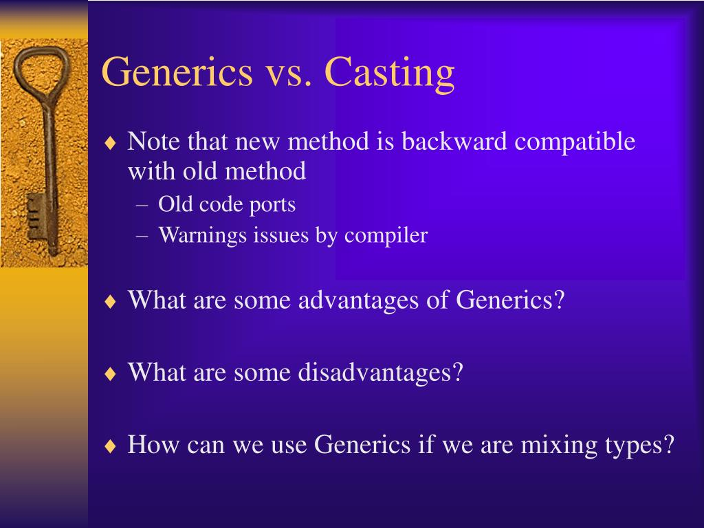 Generics vs. Casting