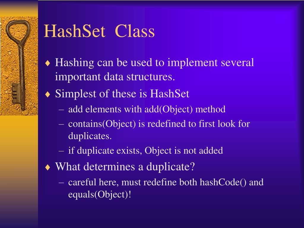 HashSet  Class