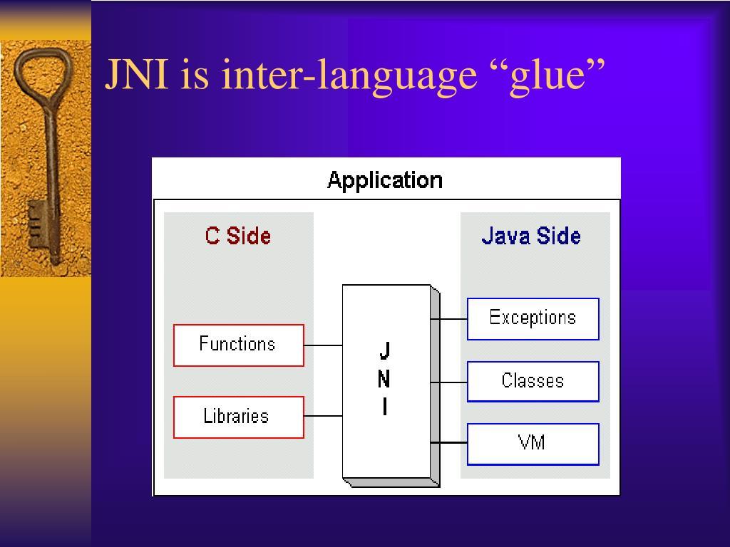 """JNI is inter-language """"glue"""""""