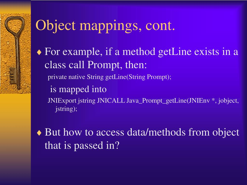 Object mappings, cont.