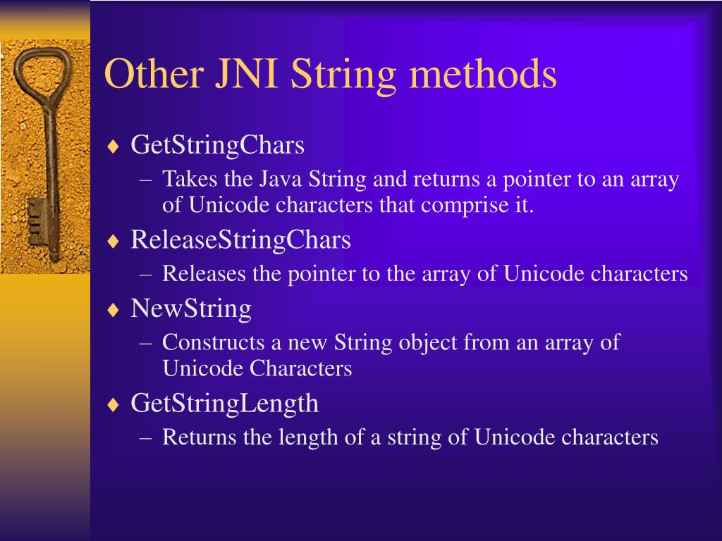 Other JNI String methods
