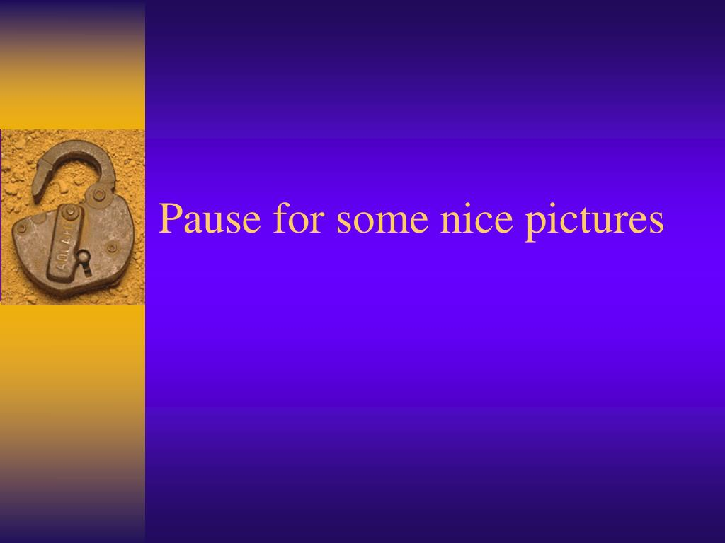 Pause for some nice pictures
