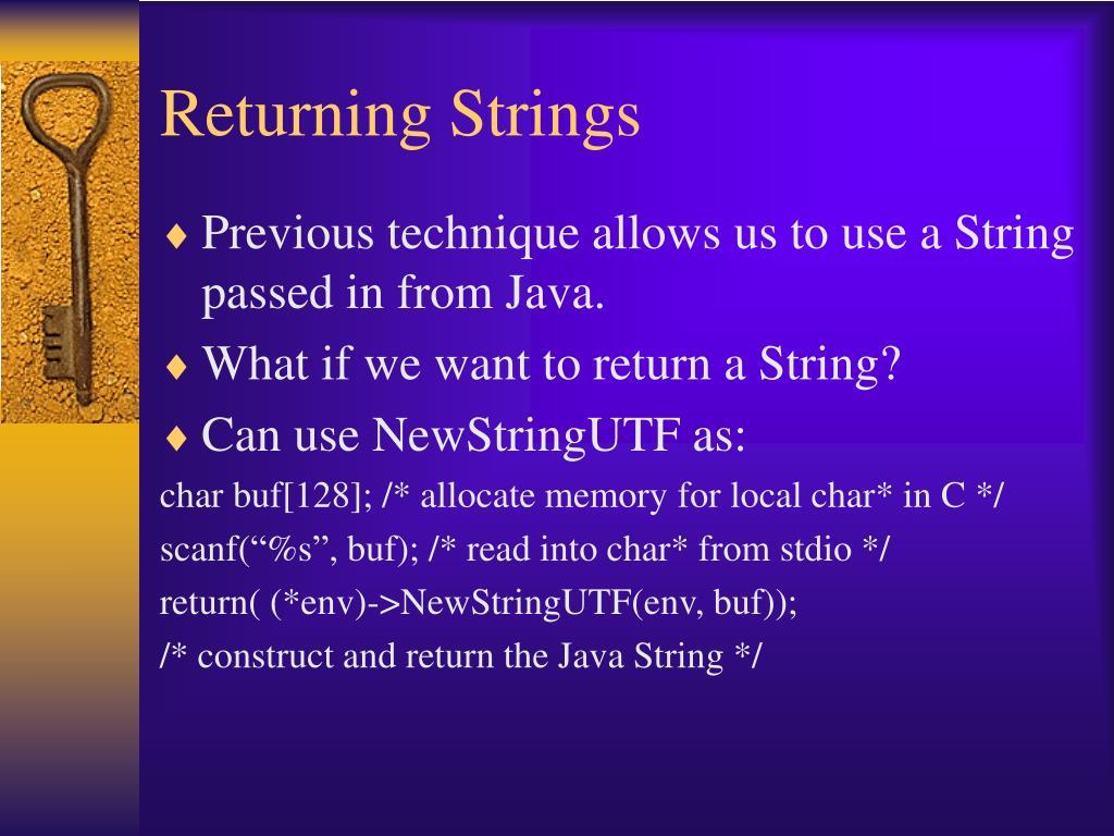 Returning Strings