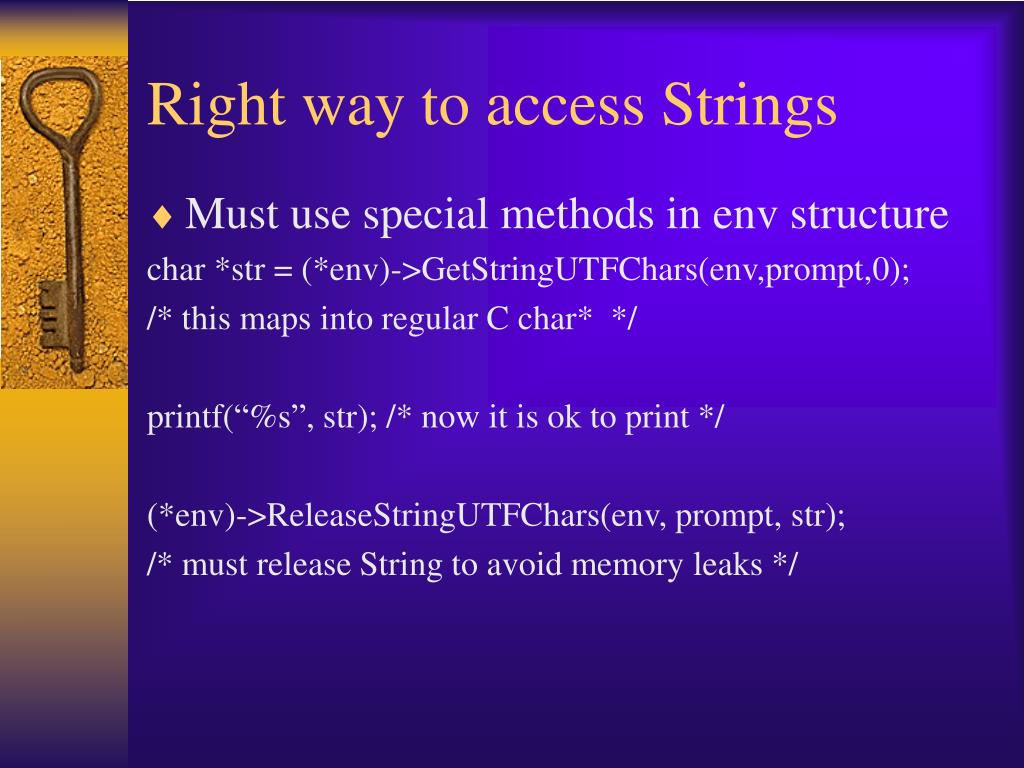 Right way to access Strings