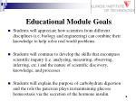 educational module goals