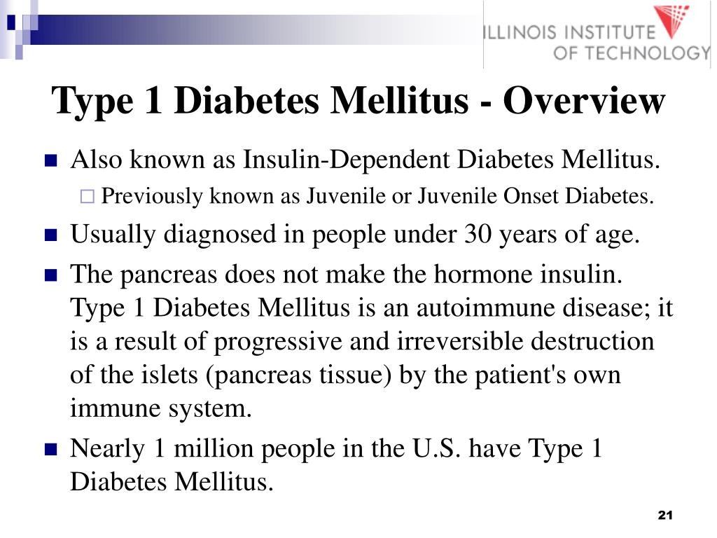 Type 1 Diabetes Mellitus - Overview
