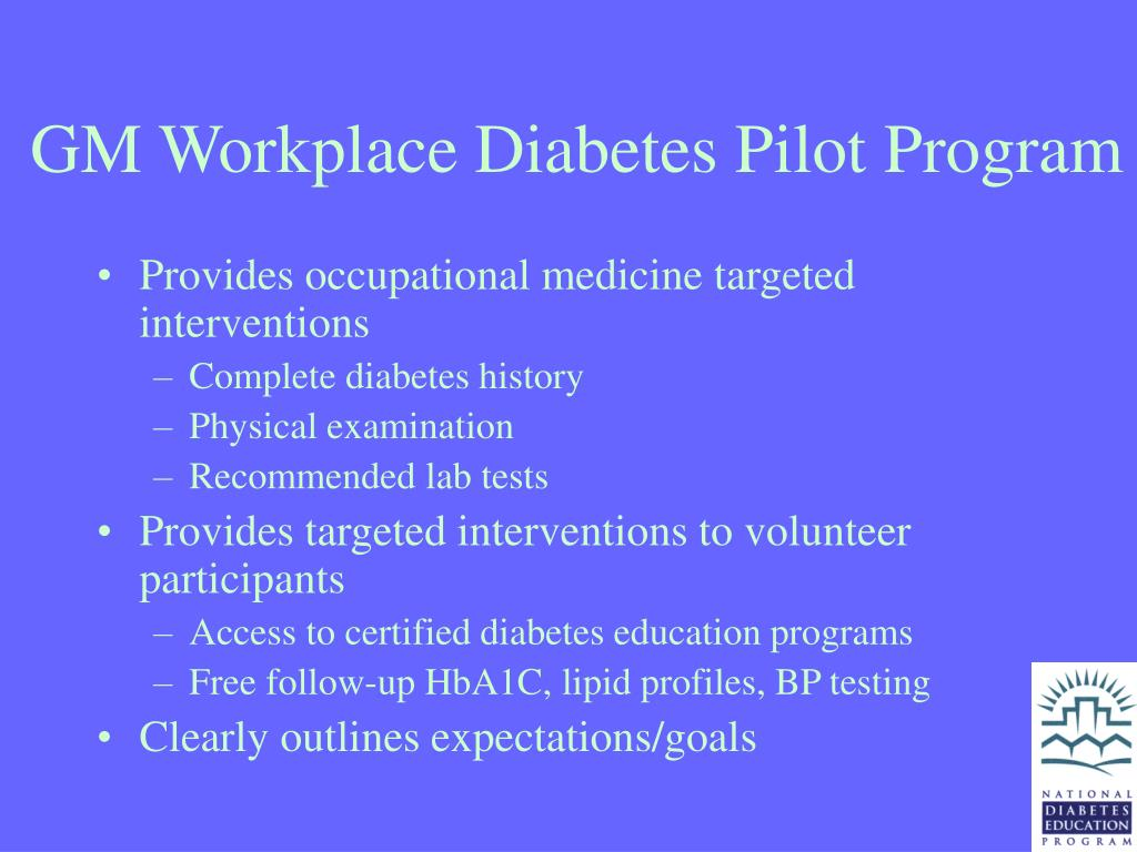GM Workplace Diabetes Pilot Program