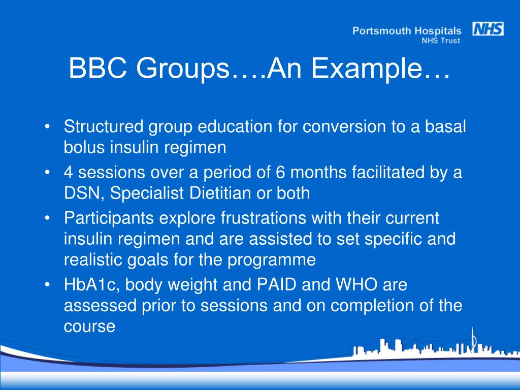 BBC Groups….An Example…
