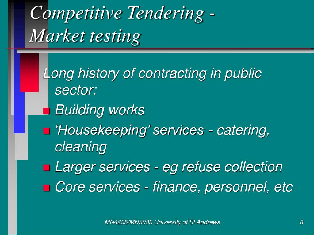 Competitive Tendering -