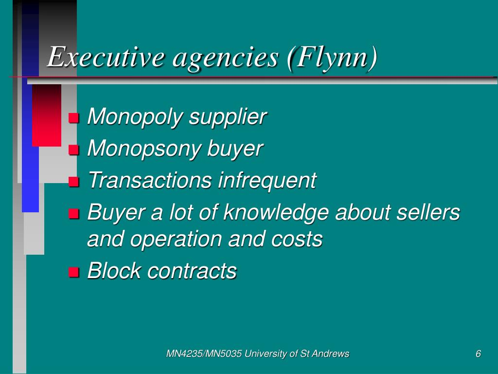 Executive agencies (Flynn)