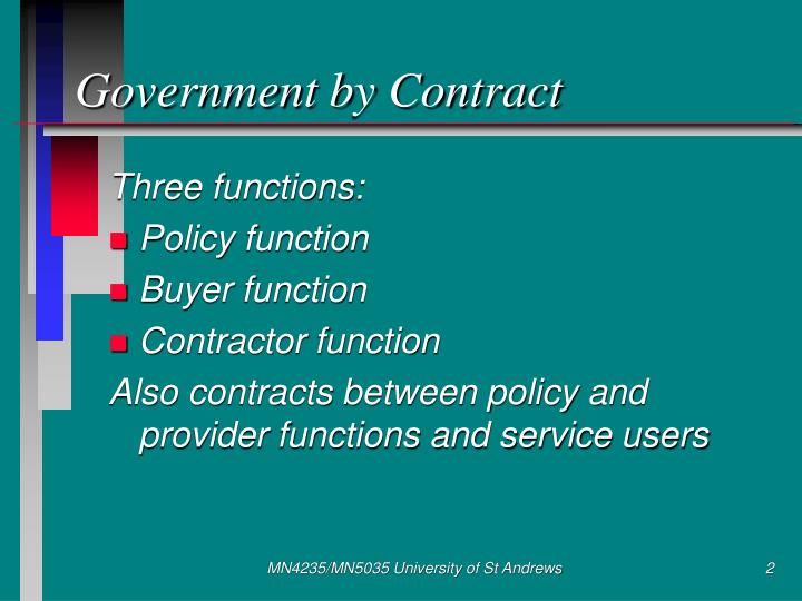 Government by contract