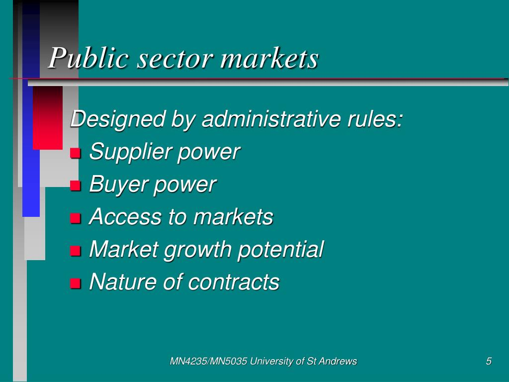 Public sector markets