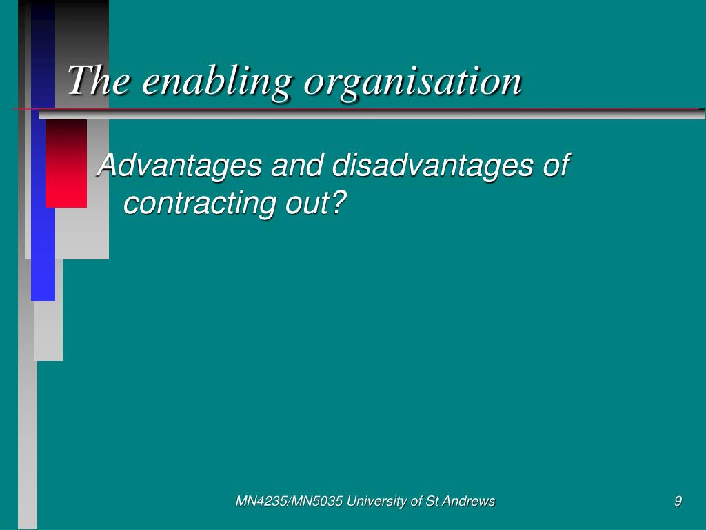 The enabling organisation