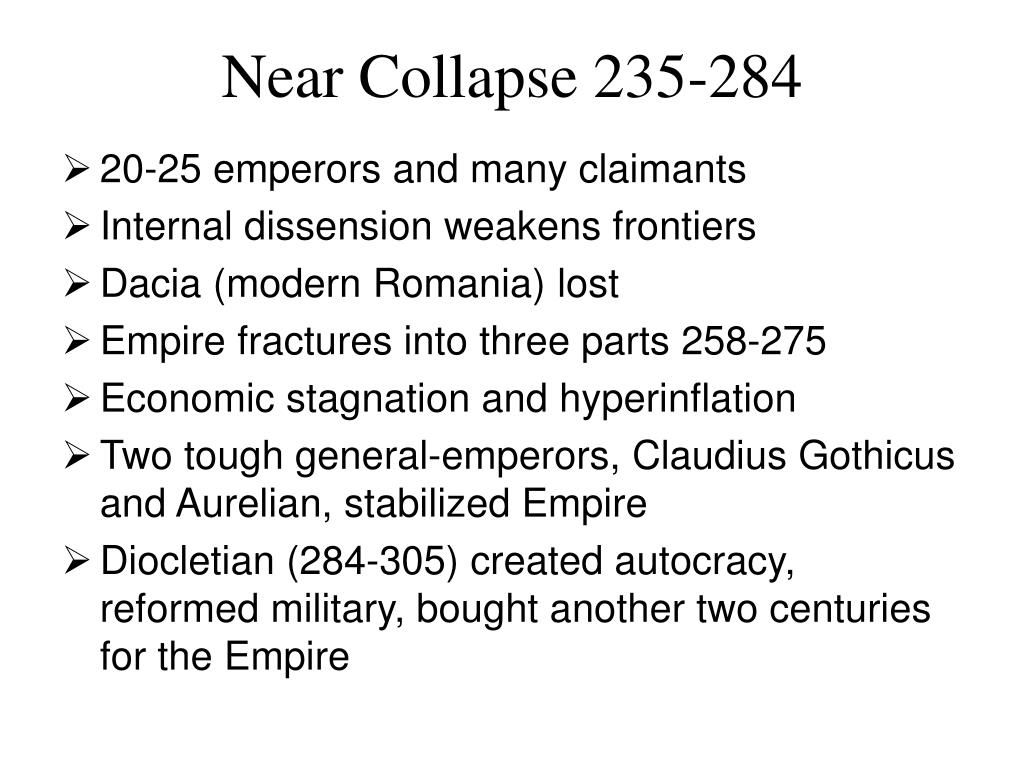 Near Collapse 235-284