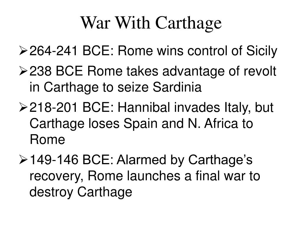 War With Carthage