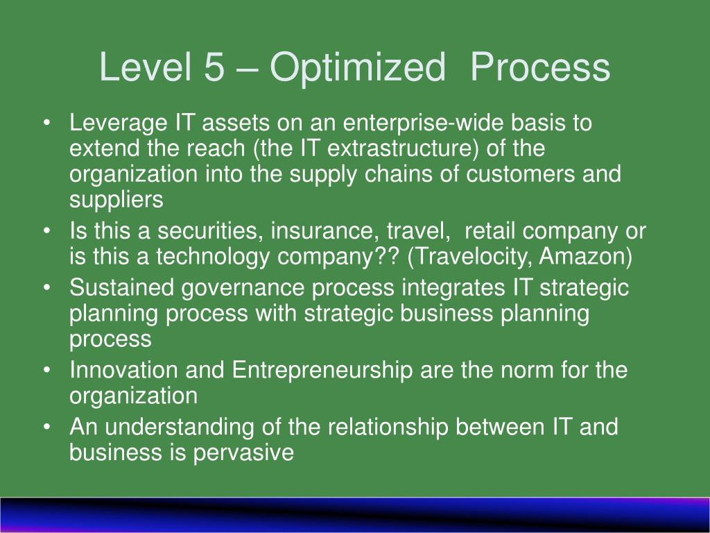 Level 5 – Optimized  Process