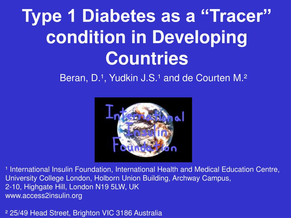 "Type 1 Diabetes as a ""Tracer"""