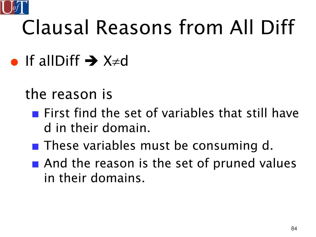 Clausal Reasons from All Diff