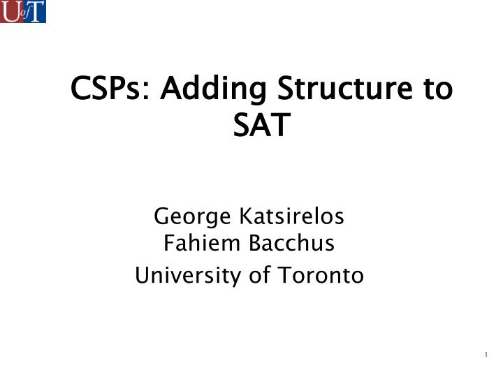 Csps adding structure to sat