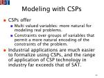 modeling with csps23