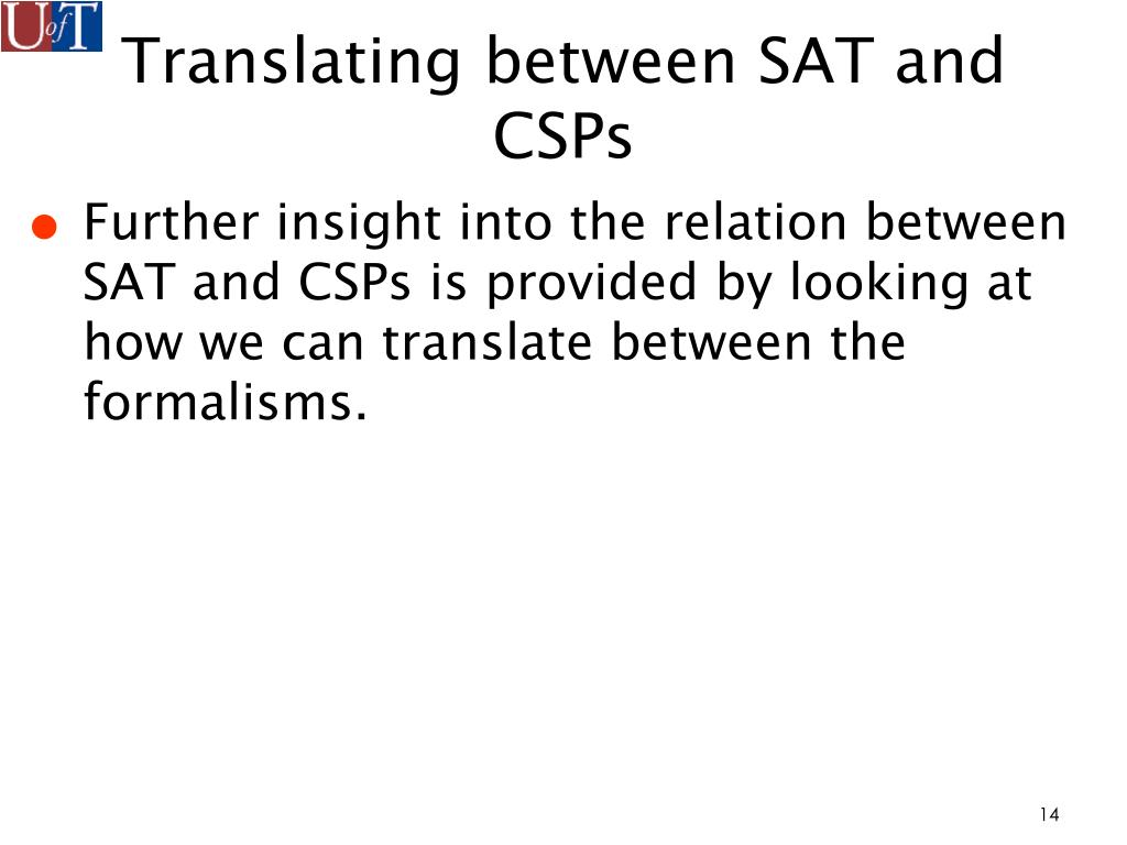 Translating between SAT and CSPs