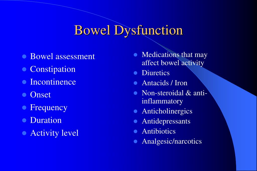 Bowel assessment