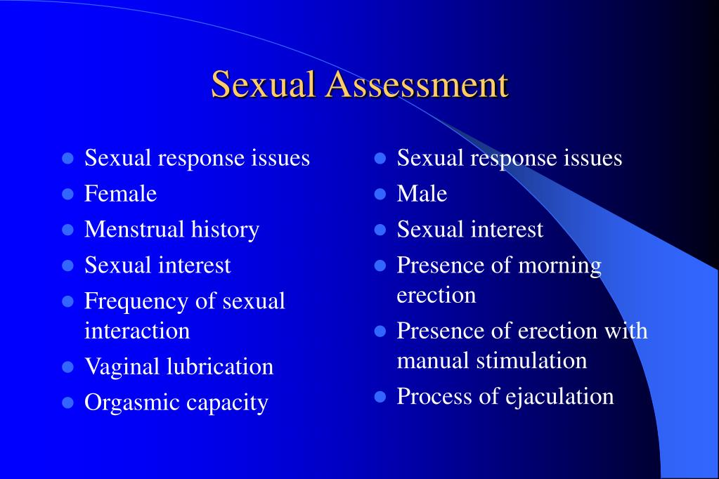 Sexual response issues