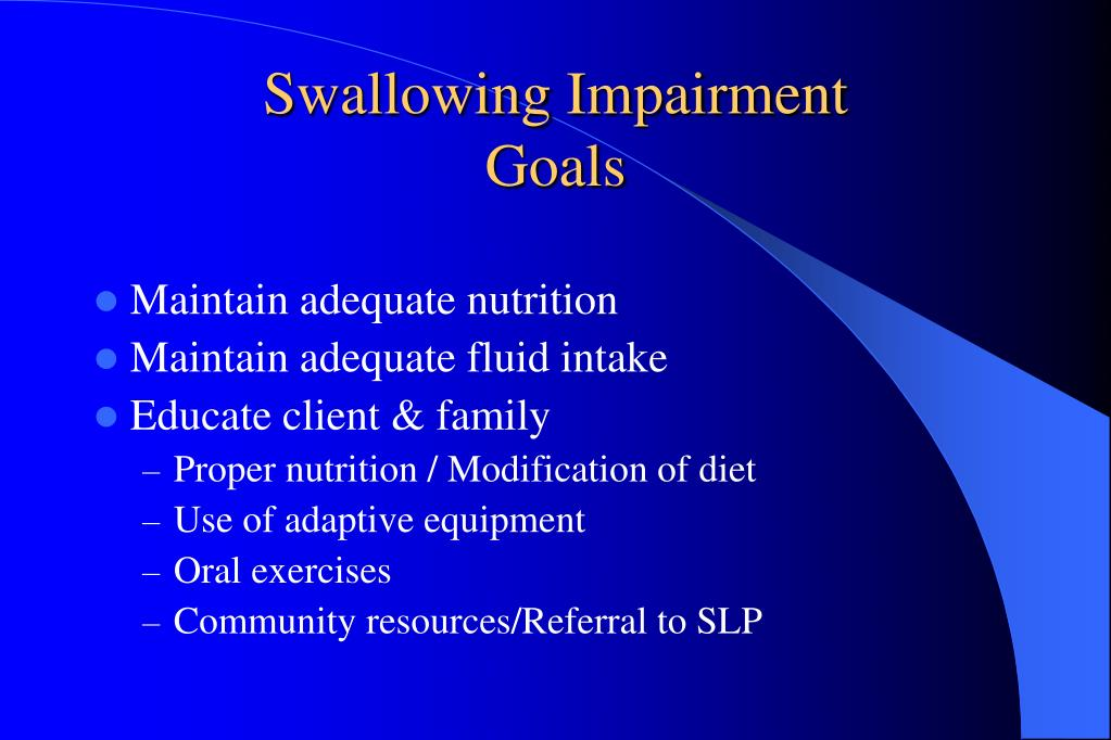 Swallowing Impairment
