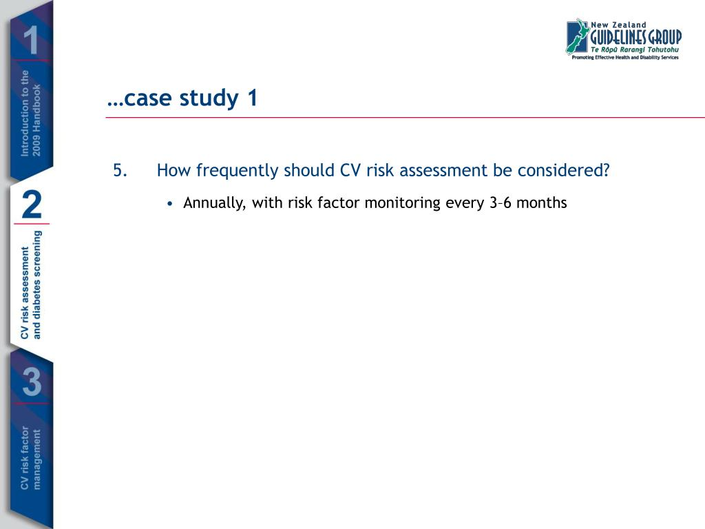 How frequently should CV risk assessment be considered?