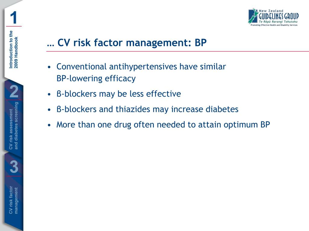 Conventional antihypertensives have similar