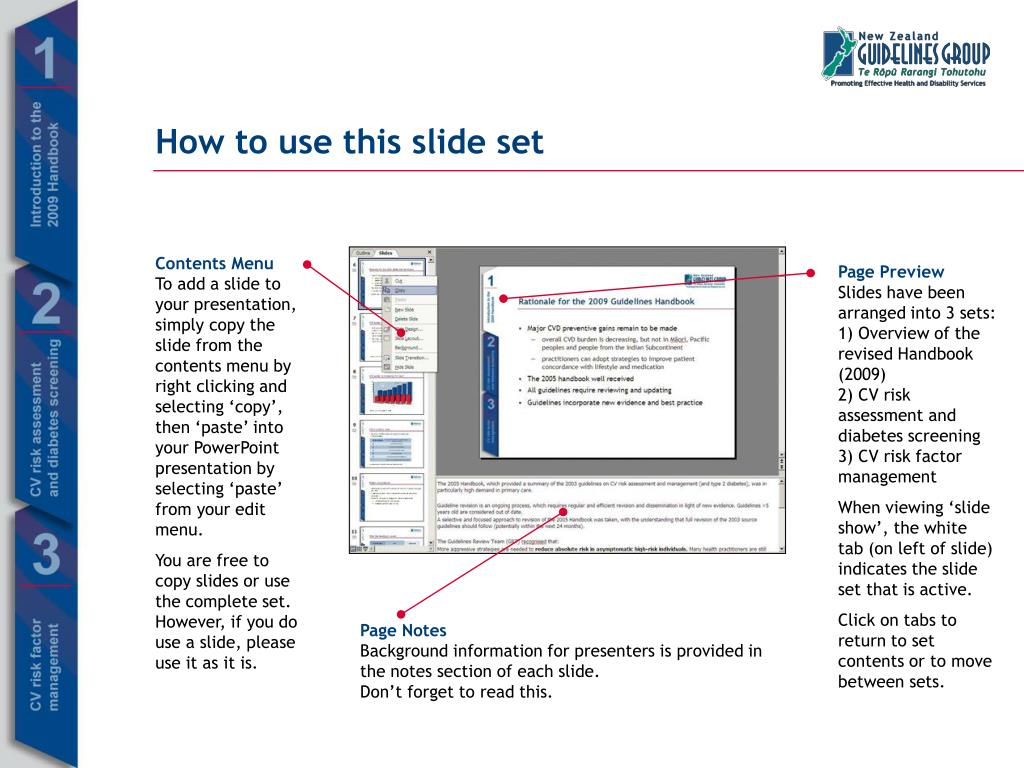 How to use this slide set