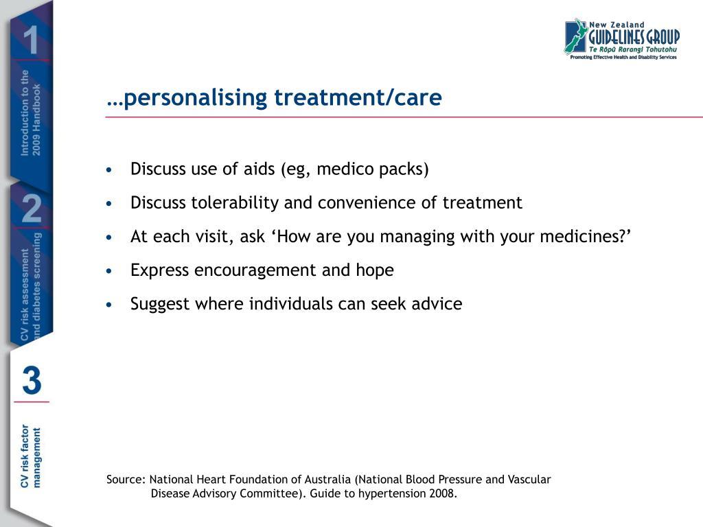 …personalising treatment/care