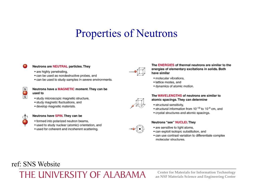 Properties of Neutrons